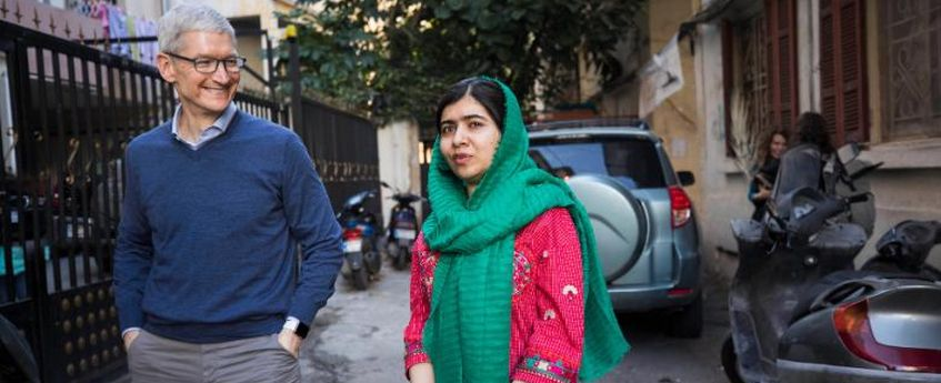 Apple, Malala Yousafzai join hands to educate 100,000 girls around the world