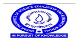 Summer Research Fellowship Program IISER 2018