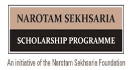 Narotam Sekhsaria Scholarship 2018